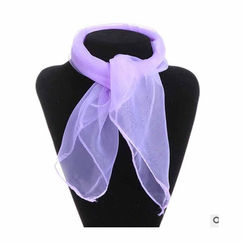 Шея Шарф женщин шифон шарфы антикварная шелковая мода галстук галстук галстук Meihuid Светло-фиолетовый фото