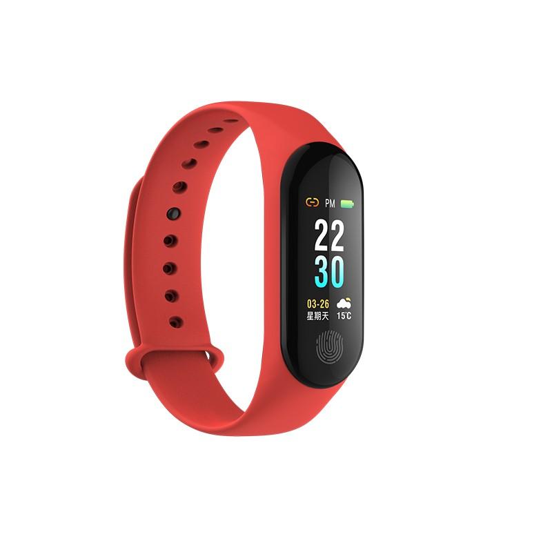 9Tong Red Смарт-браслет большой экран smart bracelet sport pedometer band heart rate fitness watch tracker кровавый кислородный монитор wristband для ios android