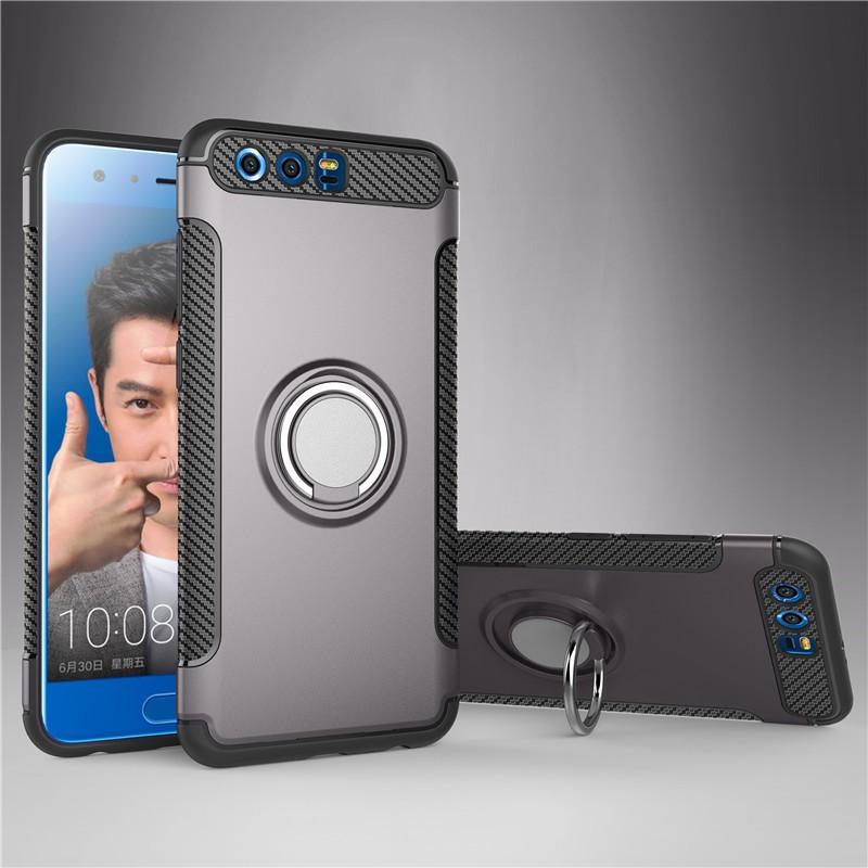 Задняя обложка для Huawei Honor 9 Honor9 Case Держатель для автомобилей с жестким ПК Silicon Fecoprior Серый Честь 9 фото