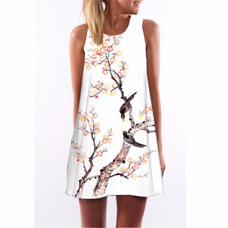 Платье женщин платье летнее платье SAKAZY Смешанный цвет XXL фото