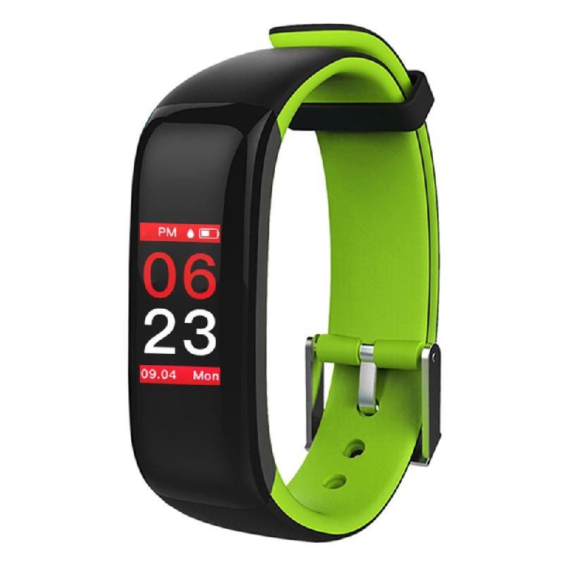 Lixada зеленый z8 кровяное давление watch blood oxygen heart rate monitor smart bracelet fitness tracker wristband watch