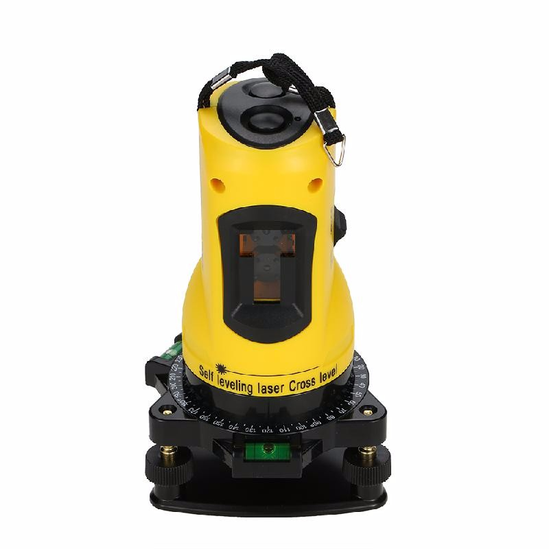meterk Yellow eu plug clubiona professional engineer laser module 360 rotary tilt functional self leveling cross line 3d 12 line laser level