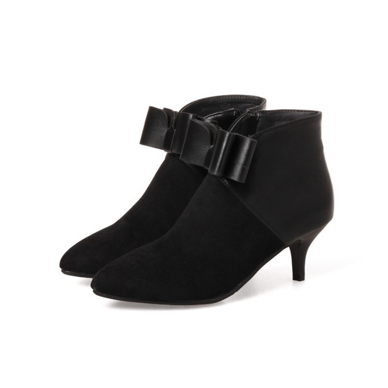 Ботинки для лодыжки для женщин с серединой пятки по продажам новые короткие ботинки для снега IDIFU черный 6 фото