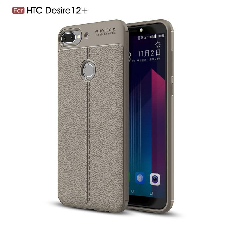 Fecoprior Серый Задняя обложка для HTC Desire 12 Plus D12 Plus 12Plus Case