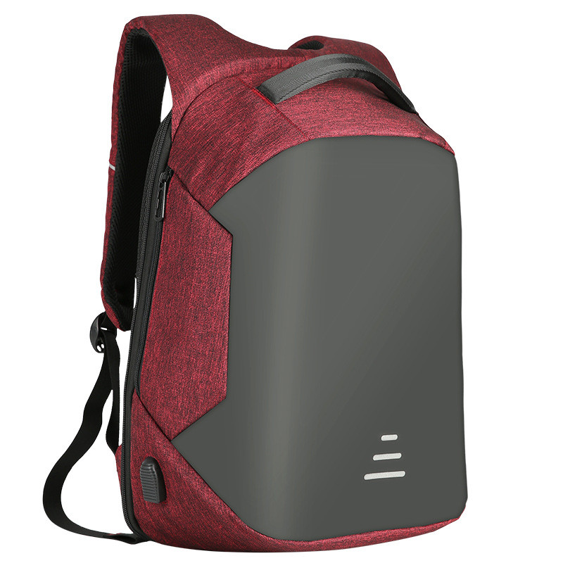 Мужские рюкзаки Противоугонные Водонепроницаемый USB Зарядка Дизайн Ноутбук Рюкзак CAROLING ANGEL Red 32 20 49см фото