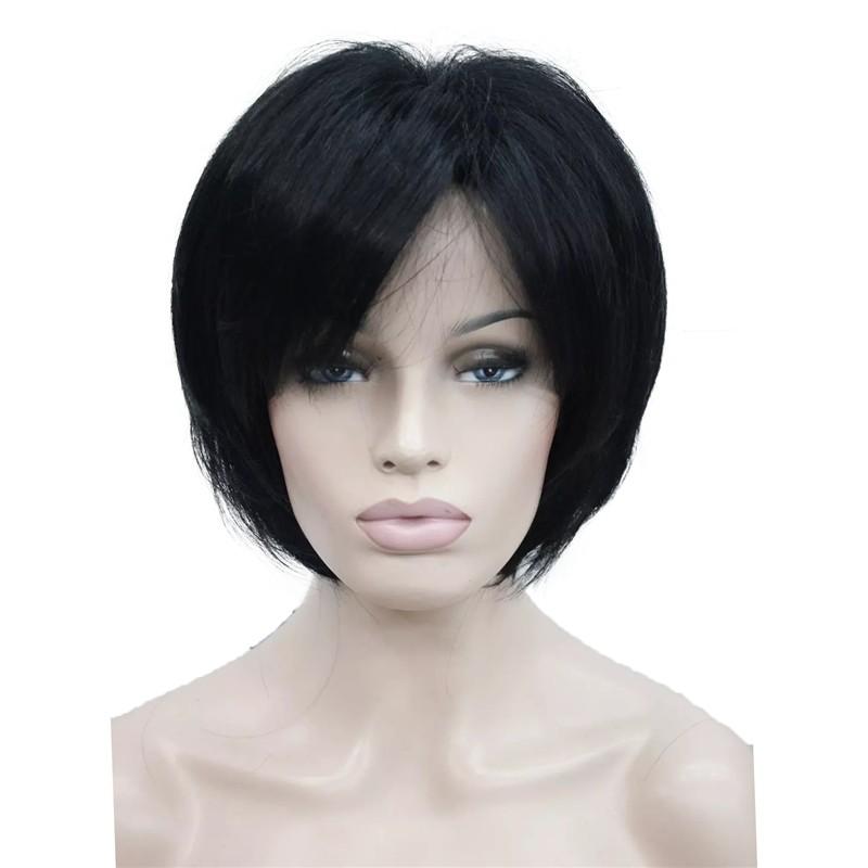 Короткий прямой браун парики короткий прямой блондинка париков для женщин - учас StrongBeauty 1 короткий фото
