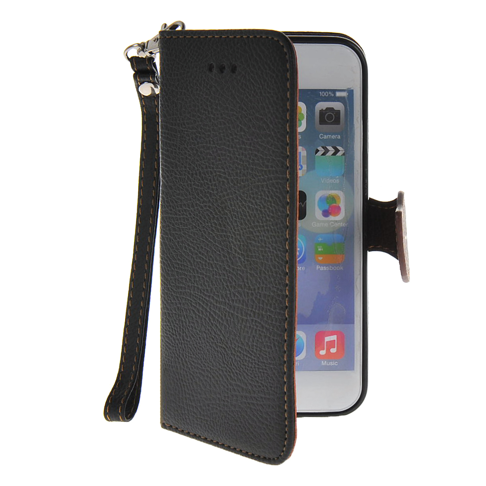 MOONCASE mooncase litch skin leather side flip wallet card slot pouch stand shell back чехол для lg l bello d331 black