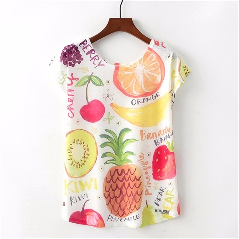 SAKAZY Другие XL женская футболка other 2015 3d loose batwing harajuku tshirt t a50