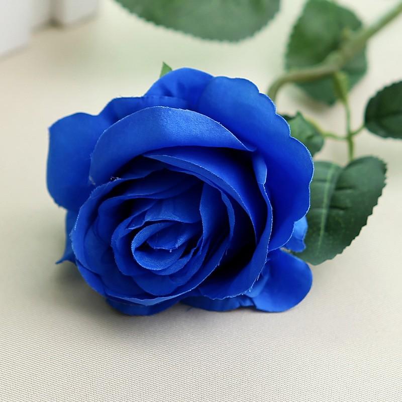 Искусственный цветок из роз цветок искусственный цветок домашнее свадебное украшение engineerin bubble wish Blue фото