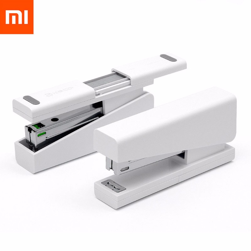 Mi free shipping deli 0451 candy color stitching machine set mini stapler belt clip staples attached manual mini stapler