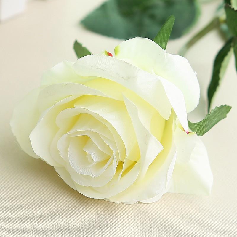 Искусственный цветок из роз цветок искусственный цветок домашнее свадебное украшение engineerin bubble wish White фото