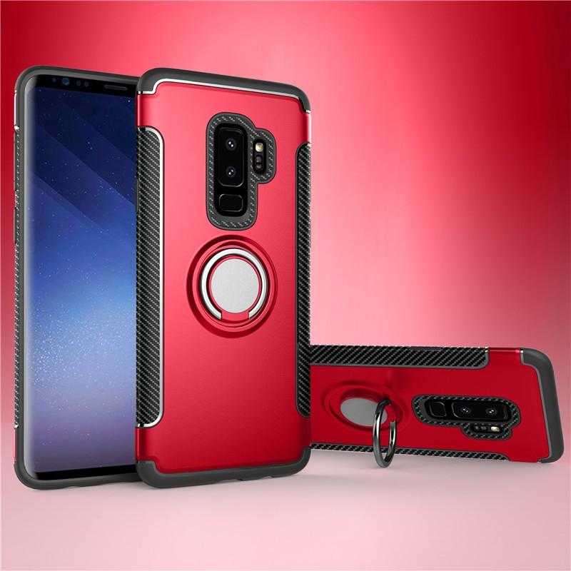 Fecoprior красный Задняя обложка для Samsung Galaxy S9 Plus Чехол для автомобильного держателя для жестких дисков Silicon