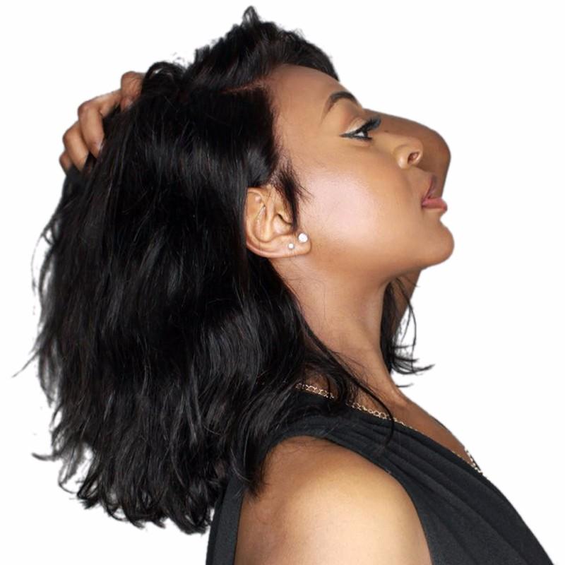 bluebell 1B 10 дюймов short bob wigs body wave glueless lace front wigs human hair wigs for black women