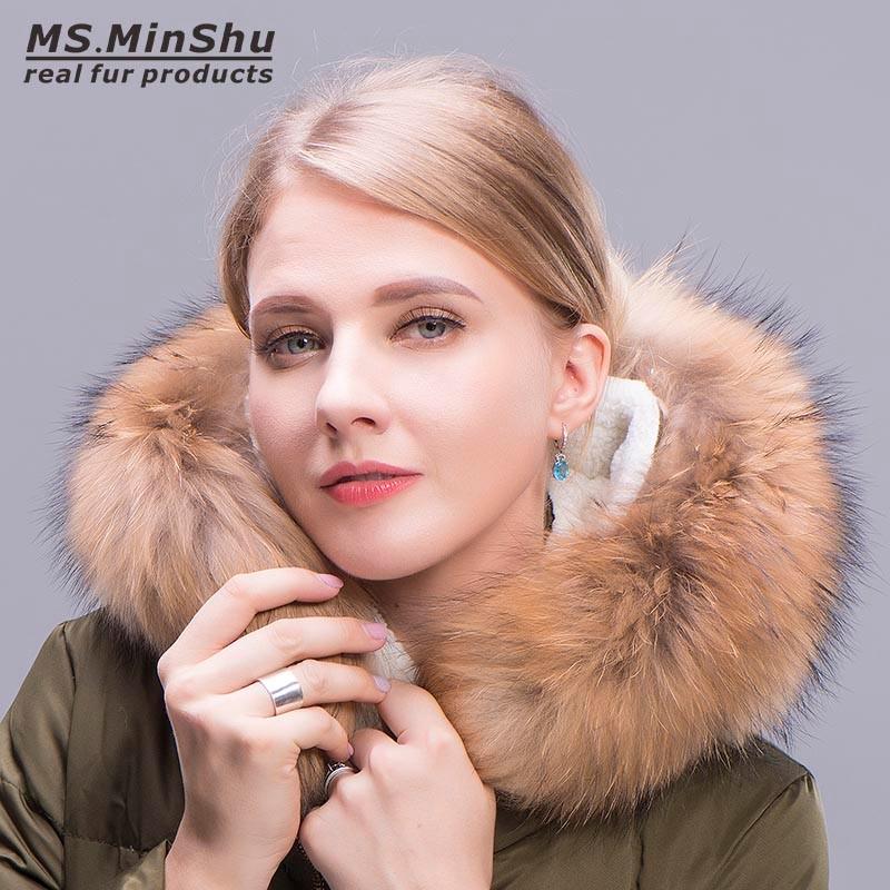 MSMinShu 70см raccoon fur hats 100