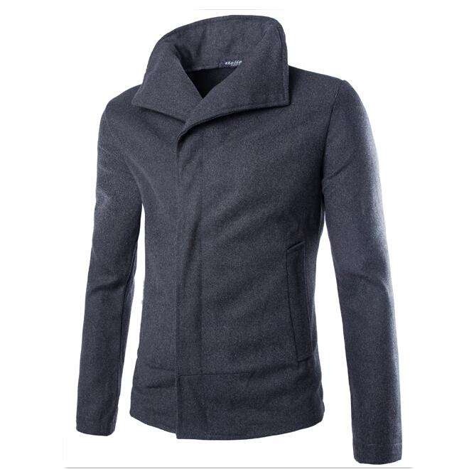 ZOGAA мужчины шерстяные пальто пальто и шерсти пальто