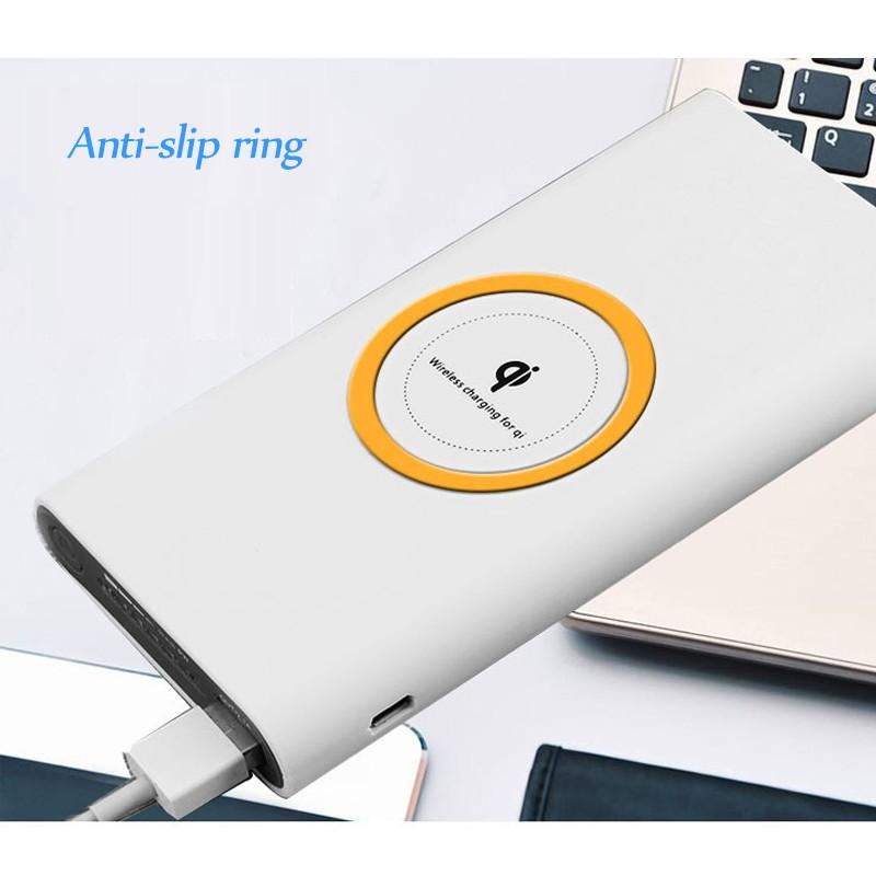 Беспроводная зарядка QI универсальная беспроводная зарядка сокровища беспроводная мобильная мощность JYSS белый фото