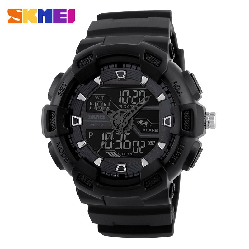 SKMEI Черный skmei спортивные часы кварц желтый 9106