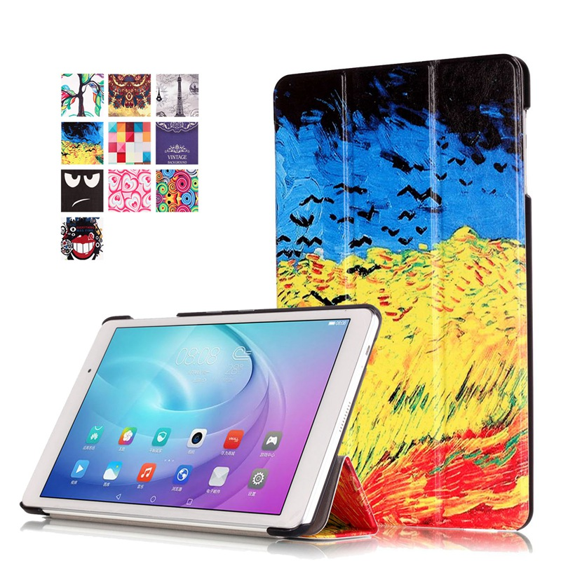 AKWS Хаки fashion print magnet protective stand cover pu leather funda case for huawei mediapad t2 8 0 pro honor tablet 2 8inch tablet