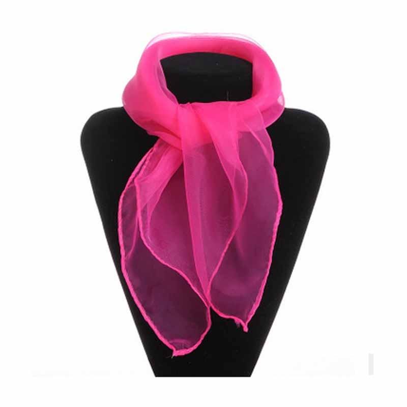 Шея Шарф женщин шифон шарфы антикварная шелковая мода галстук галстук галстук Meihuid фуксин фото