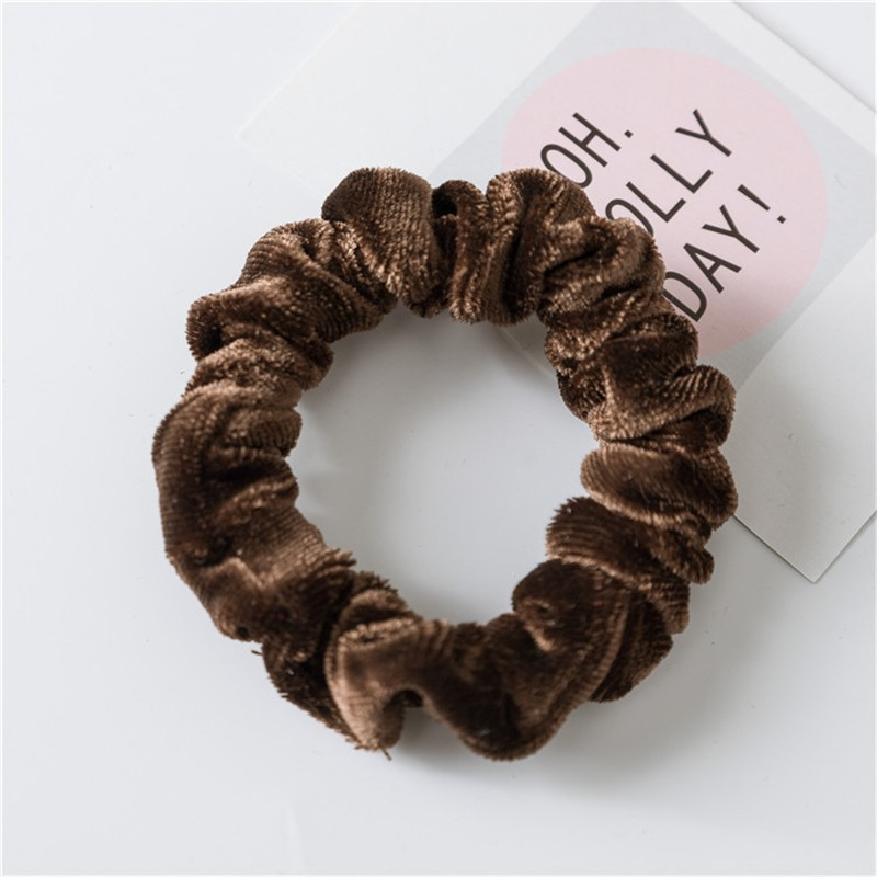 CXSHOWE Кофейный 1pc 2016 new fashion elgant women hair band rope elastic rose flower ponytail holder scrunchie party accessories hot page 4