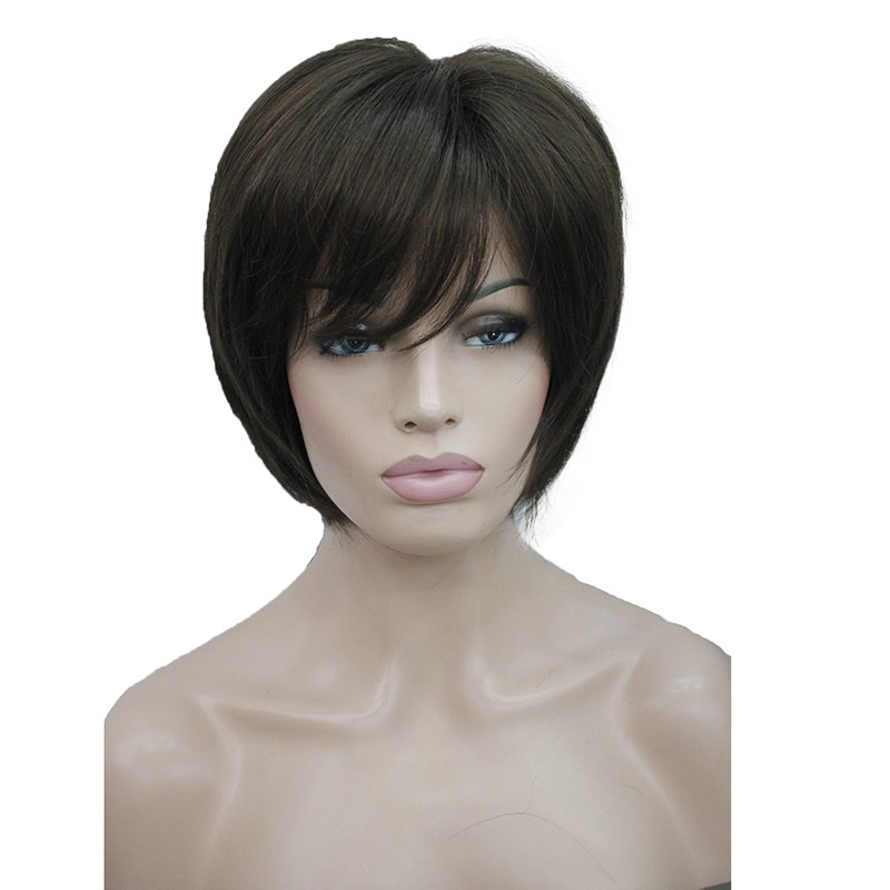 Короткий прямой браун парики короткий прямой блондинка париков для женщин - учас StrongBeauty 6 короткий фото