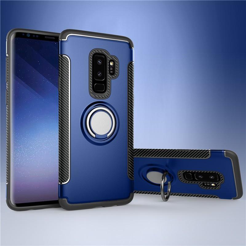 Fecoprior синий Задняя обложка для Samsung Galaxy S9 Plus Чехол для автомобильного держателя для жестких дисков Silicon