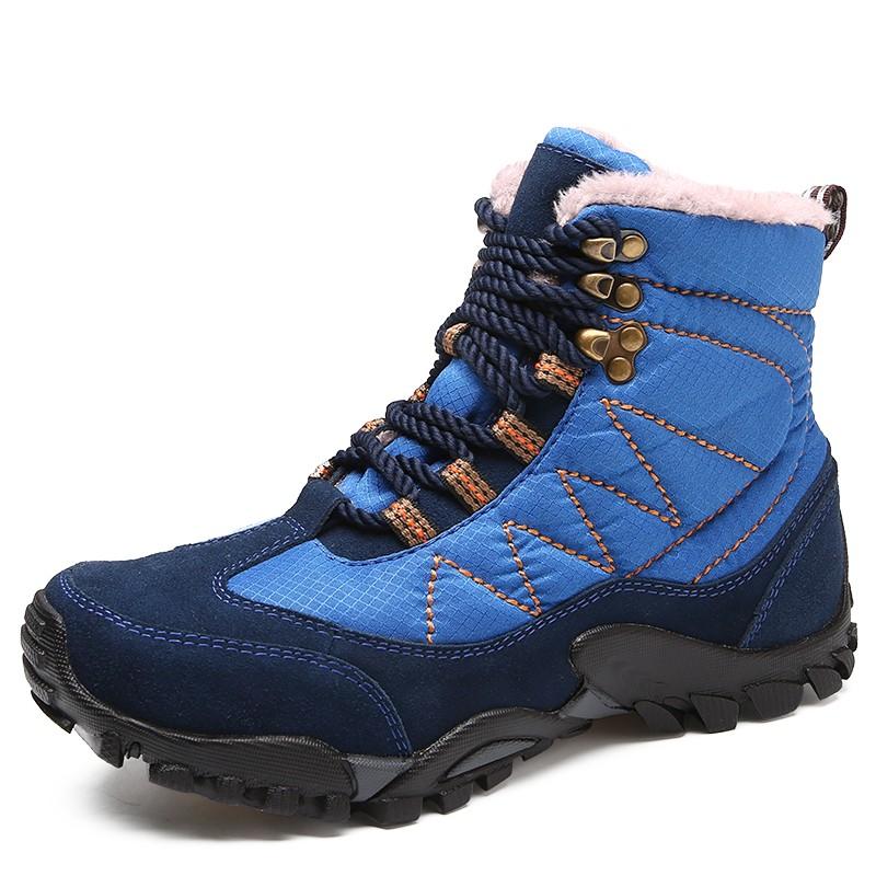 Мужчины повседневная обувь работа обувь сапоги мужчины снег сапоги мужчины luoweikedeng Blue 43 фото