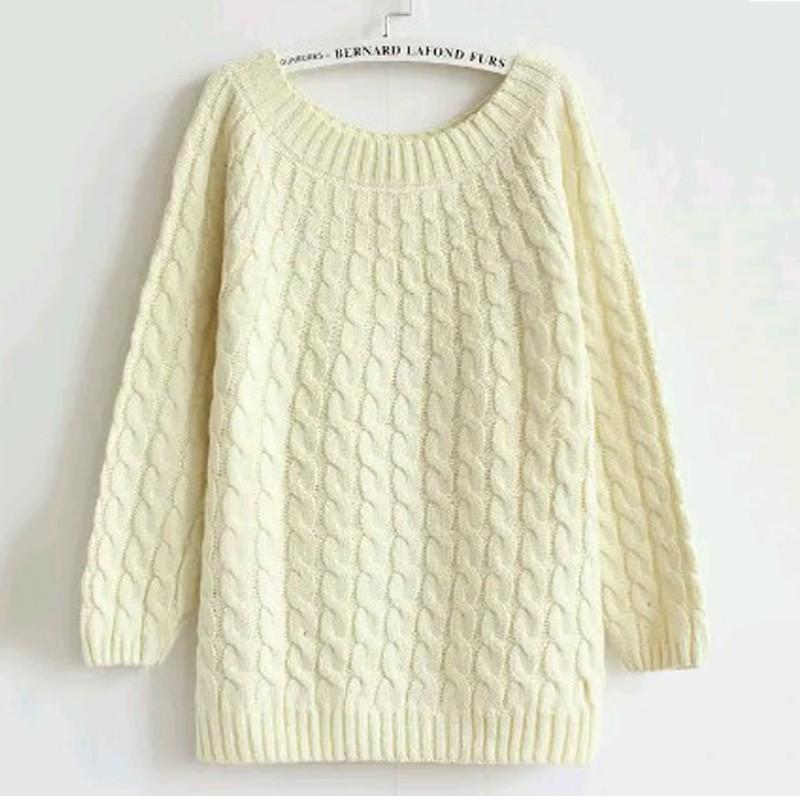 quzihua Бежевый Свободный пуловер mexx джемперы свитера и пуловеры с вырезом