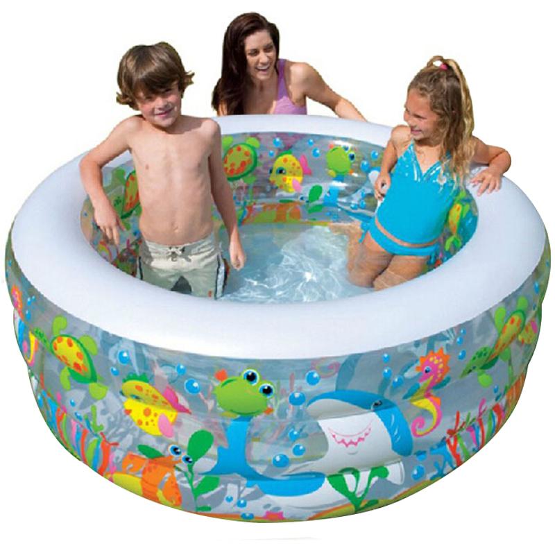 JD Коллекция 152 56 см круглый бассейн детский надувной intex кит с фонтаном