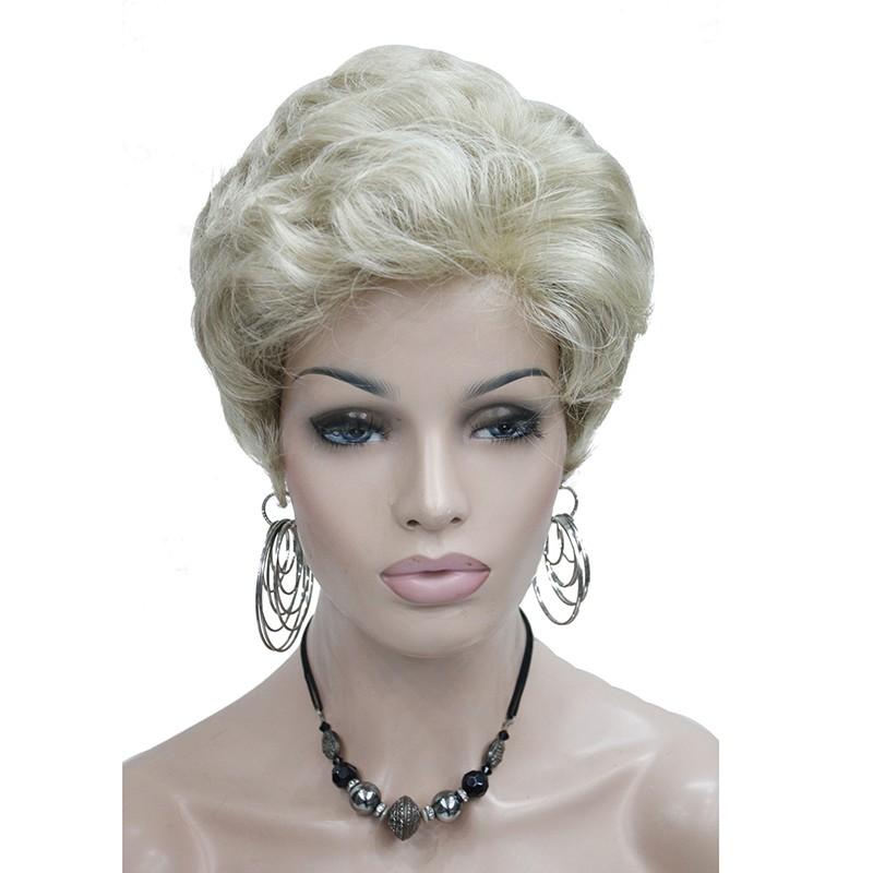 Короткие парики цвета короткие светлые парики золотистые блондинки парики каштановые парики серые парики StrongBeauty 24-613 короткий фото