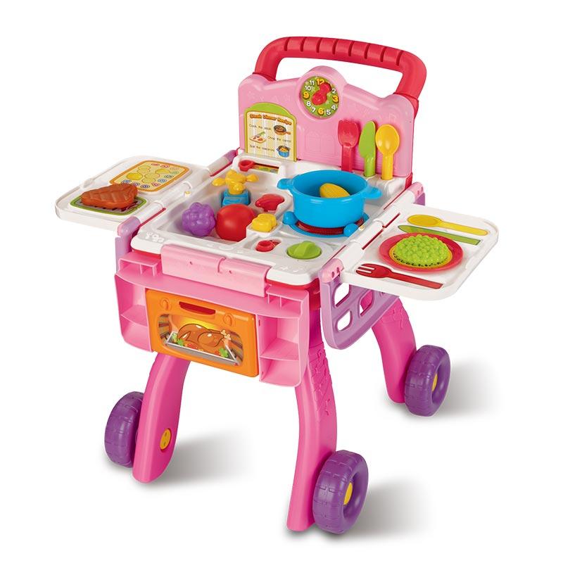 JD Коллекция Играть Домовая кухня торговые две машины дефолт ролевые игры игралия туалетный столик тележка для девочек 008 30