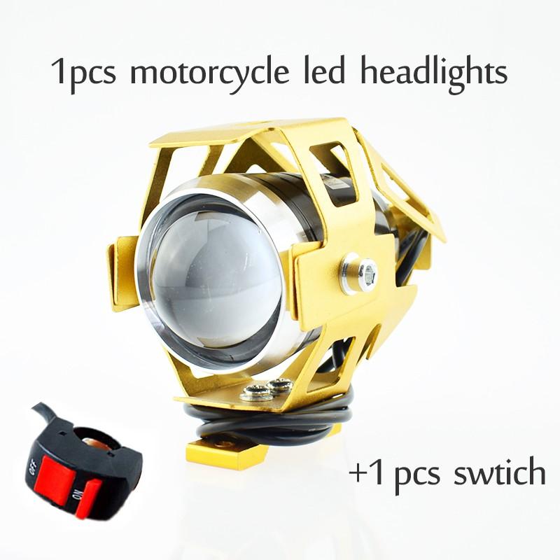 125W фары мотоцикла U5 привело 12v 6500k прожектор мотоцикла Huiermeimi Золото фото