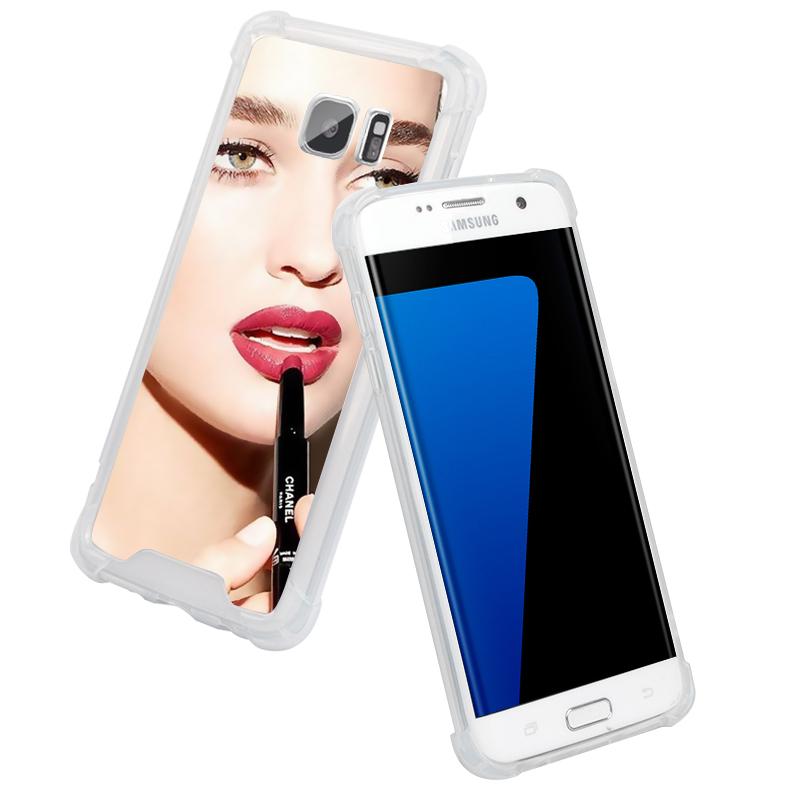 JD Коллекция Серия защиты - двойная Silver Mirror Samsung S7