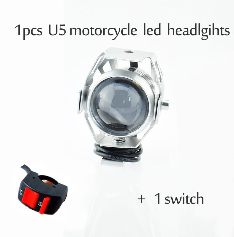 125W фары мотоцикла U5 привело 12v 6500k прожектор мотоцикла Huiermeimi Серебряный фото
