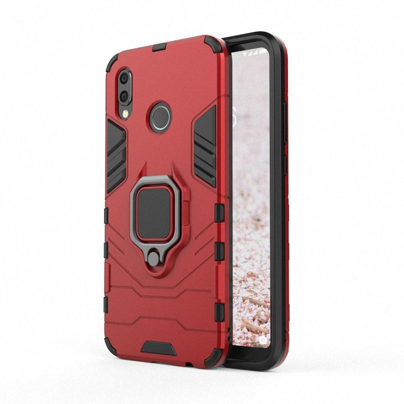 Для Huawei P20 Lite для делового телефона с держателем для мобильного телефона Huawei P20 для мобильного телефона с корпусом для мобильного телефона Huawei P20 для корпуса Huawei P20 Pro с жестким покрытием для чехлов Capa Coque WIERSS красный для Huawei P20 Lite фото
