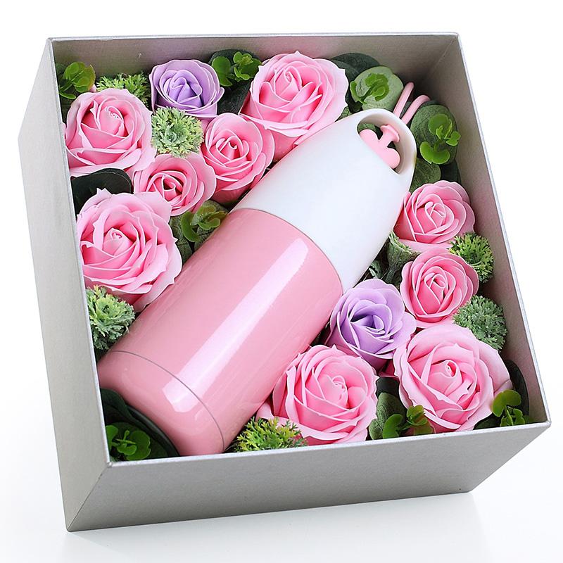 JD Коллекция А «чашка» суб мыло цветочные ящики - милый розовый дефолт artiart подарок подарок попугай птичий нож складной нож фруктовый нож синий день рождения день святого валентина подарок творческий подарок