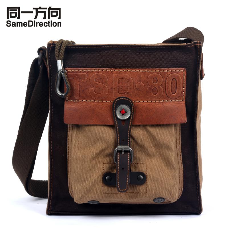 Same Direction тёмно-коричневый katekyo hitman reborn school bags anime rokudou mukuro hibari canvas messenger bag