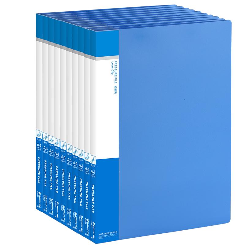JD Коллекция синий Сильный один клип 10 установлен united comix a603 a4 папка папка длинный синий заряд клип канцелярские