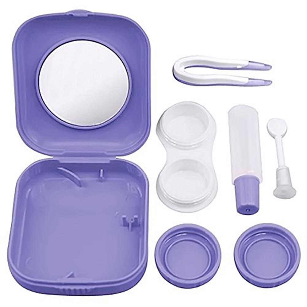 MyMei Фиолетовый цвет 3 pocket anti shock lens filter storage carrying case bag black