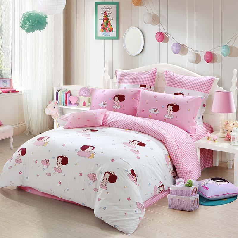 JD Коллекция любовь 18 м кровать mercury постельные принадлежности набор 4 штуки простыня с набивной чехол на одеяло 100% хлопок