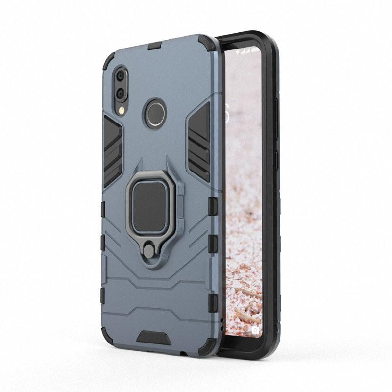 Для Huawei P20 Lite для делового телефона с держателем для мобильного телефона Huawei P20 для мобильного телефона с корпусом для мобильного телефона Huawei P20 для корпуса Huawei P20 Pro с жестким покрытием для чехлов Capa Coque WIERSS Темно-синий для Huawei P20 фото