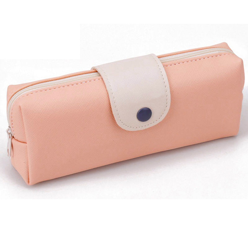 MyMei Розовый цвет retro stripe pencil pen case cosmetic pouch pocket brush holder makeup bags life style pencil bag pen box