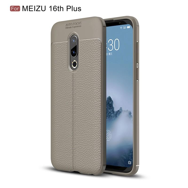 Fecoprior Серый Задняя обложка для MEIZU 16-го Plus 16 Plus 4G LTE Snapdragon 845 Case