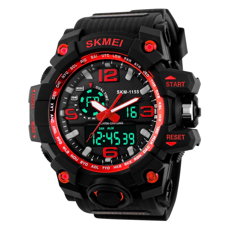 JD Коллекция 1155 Красный часы skmei мужские 1155