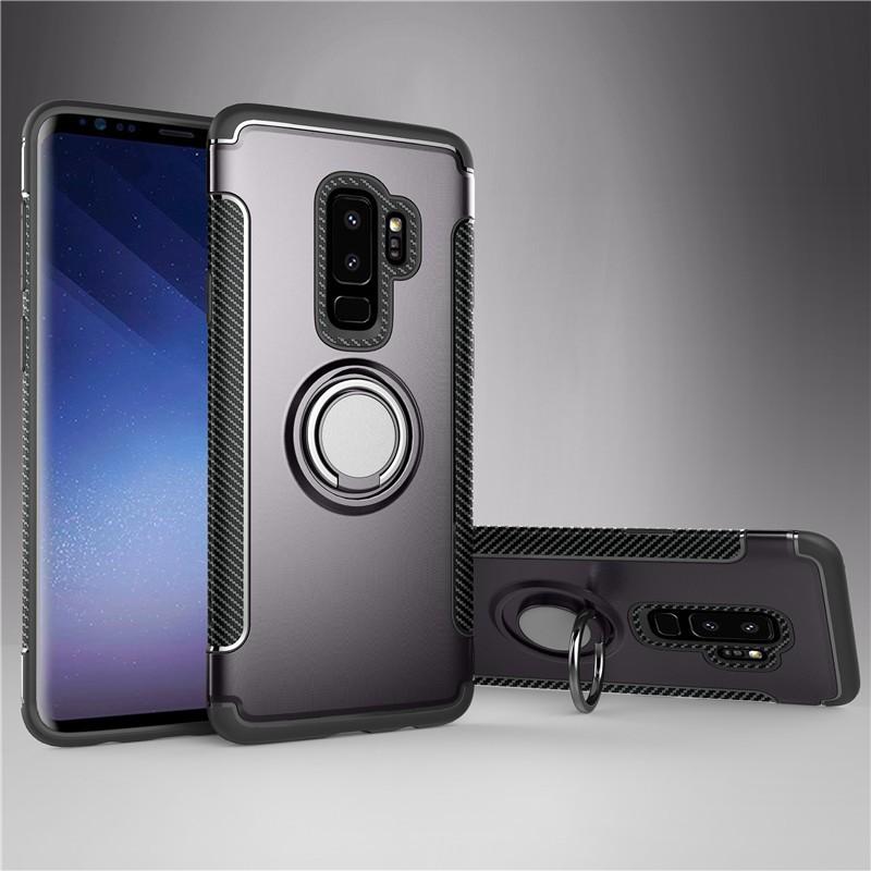 Fecoprior Серый Задняя обложка для Samsung Galaxy S9 Plus Чехол для автомобильного держателя для жестких дисков Silicon