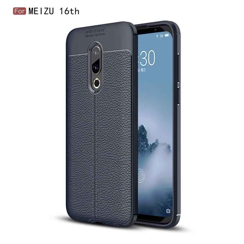 Fecoprior синий Задняя обложка для MEIZU 16-й 16 4G Snapdragon 845 Case
