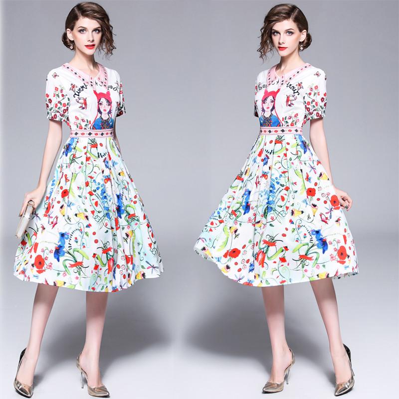 Платье белое Платье с коротким рукавом Платье DFYOP белый M фото