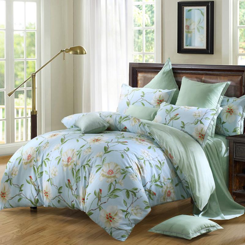 JD Коллекция сад 18 м кровать mercury постельные принадлежности набор 4 штуки простыня с набивной чехол на одеяло 100% хлопок