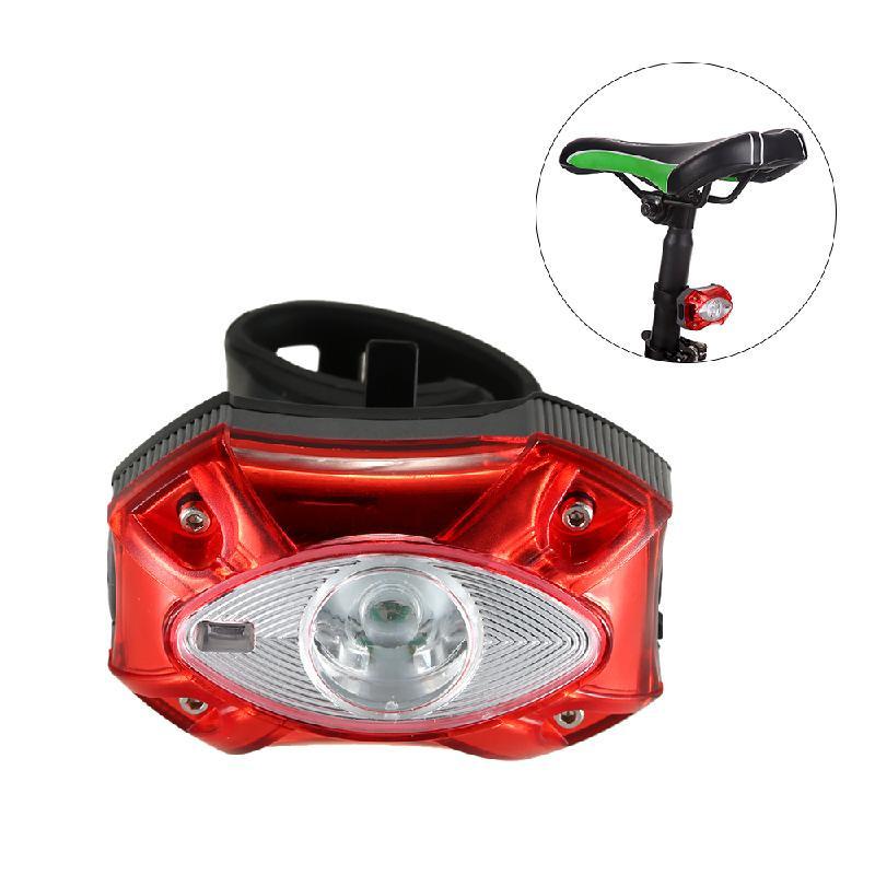 Lixada красный фонарь велосипедный d light cg 700r4 габаритный задний с отражателем цвет черный красный