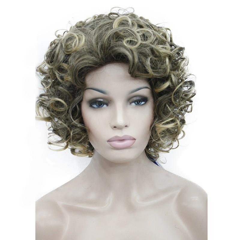 Короткий кудрявая блондинка парики короткий кудрявый черный парики короткий вьющ StrongBeauty 6T101 короткий фото